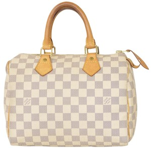 Louis Vuitton Monogram Speedy Speedy 25 Satchel in White