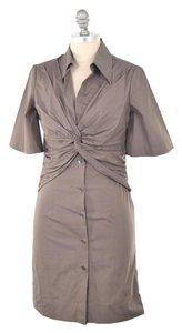 Trina Turk Stretch Cotton Poplin Button-down Classy Dress