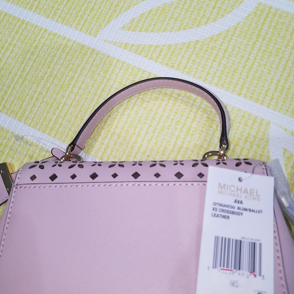 a130e6cd9543 Michael Kors Ava Extra Small Perforated Leather Blossom/Ballet Cross Body  Bag - Tradesy