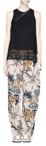 Rag & Bone Silk Tropical Relaxed Pants Rose / Olive / Beige / Ivory