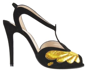 Christian Louboutin Black/gold Pumps