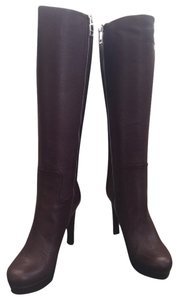Gucci Knee Classic Burgundy Boots