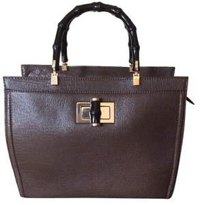 Kate Spade Laguna Court Luxe Emmeline Madison Ave Satchel in DarknStorm (Dark Brown)