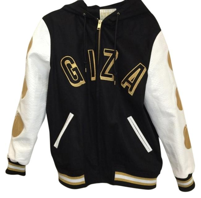 Joyrich Giza Shield Hoodie Hoodie Hoodie Giza Hoodie X Giza Limited Edition Must Have Brand New Medium Leather Sleeves Lining Black, White, Gold Leather Jacket
