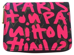 Louis Vuitton Stephen Sprouse Grafitti Hot Pink Zippy Coin Purse