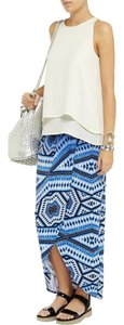 Tart Ombre Maxi Wrap Skirt Blue, white