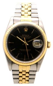 Rolex Rolex DateJust 18K Yellow Gold and Steel Black Dial Men's Watch