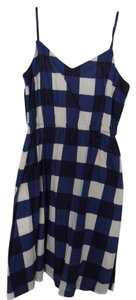 Gap short dress Blue/White Gingham on Tradesy