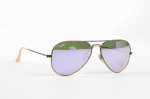 c3f28037f12cd Ray-Ban Ray-ban Antiqued Gold Tone Frame Mirrored Lens Aviator Metal  Sunglasses