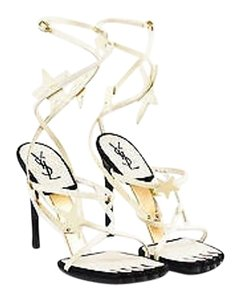 Saint Laurent Yves Cream Sandals