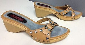 Lisa And Vicky Blue Brown Sandals