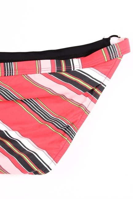 L*Space Reversible Halter Top (Stripe to Solid Black) & Stripe O-Ring Bottom