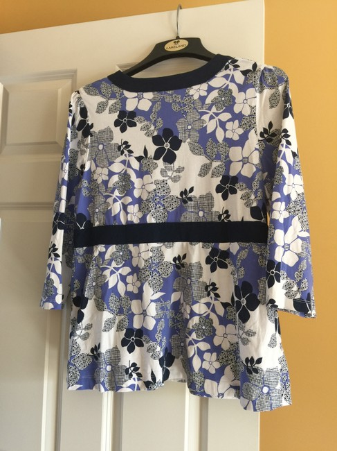 Studio Works Top Periwinkle, Navy Blue & White