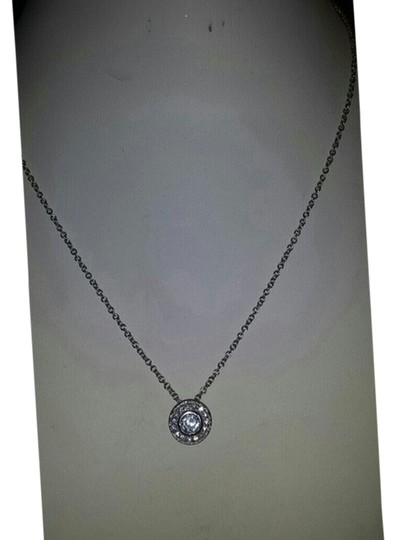 Preload https://item1.tradesy.com/images/unknown-sterling-silver-necklace-with-cz-pendant-1865345-0-0.jpg?width=440&height=440