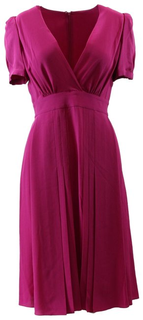 Item - Pink 344452 Silk Crepe De 40g/Small Mid-length Night Out Dress Size 4 (S)