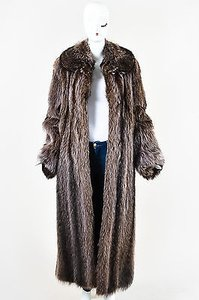 Other Tan American Raccoon Fur Full Length Channeled Round Ls Coat