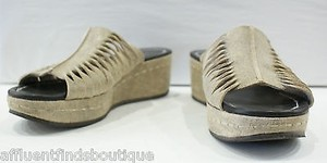 Donald J. Pliner J Tan Metallic Beige Platforms