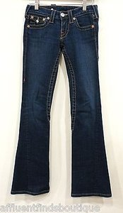 True Religion Dark Denim Leg Joey X Boot Cut Jeans