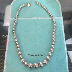 Tiffany & Co. Tiffany Co Silver Graduated Beads Beaded 16