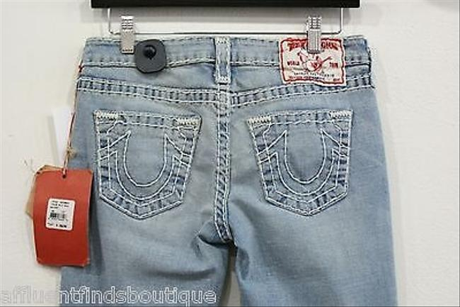 True Religion Gina Super Light Wash Style 10579bt2 Straight Leg Jeans