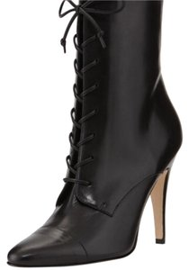 Manolo Blahnik Manolo Sectas Lace Up Black Boots