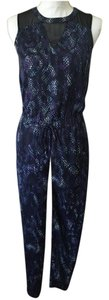 Rachel Roy Roy Blue Scale Print Dress