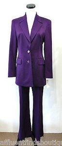 Escada Escada Purple Pant Suit Or