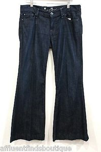 7 For All Mankind Super Dark Denim Style Flare Leg Jeans