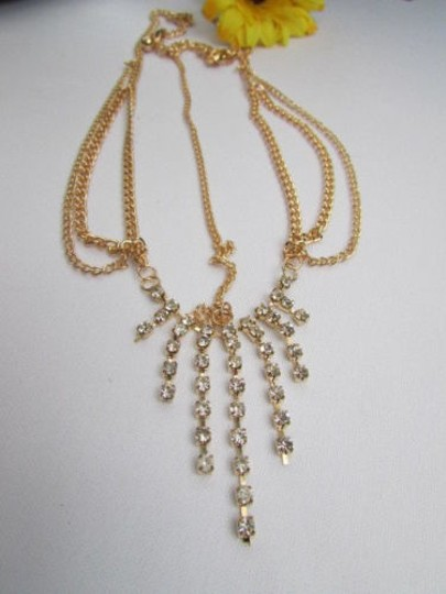 Alwaystyle4you Women Gold Metal Head Chain Jewelry Hair Silver Rhinestones Image 1