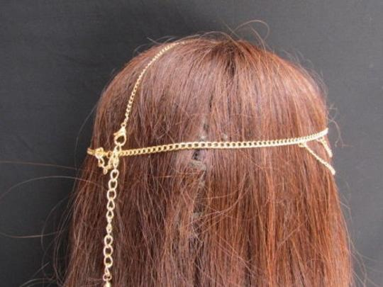 Alwaystyle4you Women Gold Metal Head Chain Jewelry Hair Silver Rhinestones Image 11