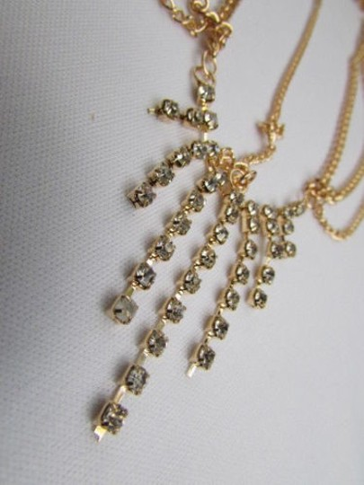 Alwaystyle4you Women Gold Metal Head Chain Jewelry Hair Silver Rhinestones Image 4