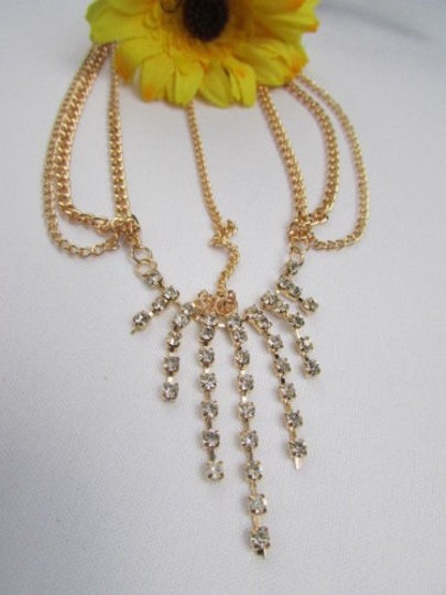 Alwaystyle4you Women Gold Metal Head Chain Jewelry Hair Silver Rhinestones Image 8