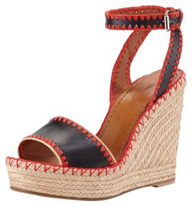 Valentino Black/Coral Wedges