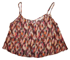 American Rag Crop Bohemian Top Plum/Purple, Teal, Ivory, Orange