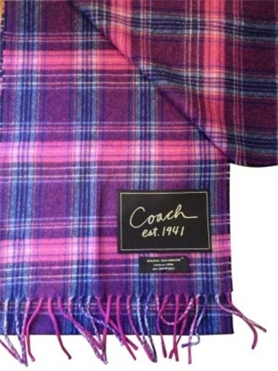 Preload https://item5.tradesy.com/images/coach-woolcashmere-multicolorblue-women-s-signature-tartan-muffler-scarfwrap-186554-0-0.jpg?width=440&height=440