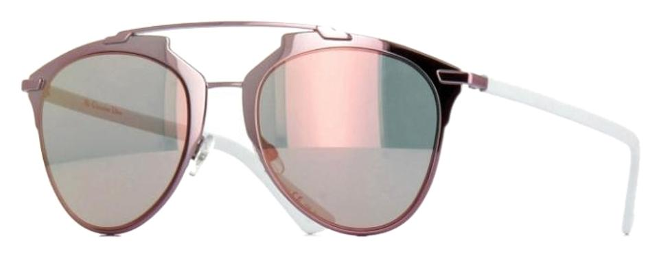 1dba65f66ee0 Dior Reflected 52MM Mirror Aviator Sunglasses Pink White Pink Mirror Image  0 ...