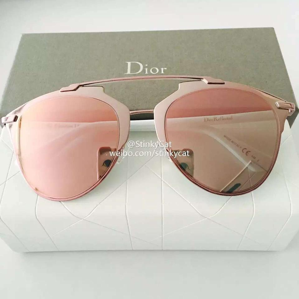 9c7856d08064 Dior Reflected 52MM Mirror Aviator Sunglasses Pink White Pink Mirror Image  3. 1234