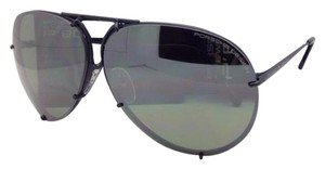 PORSCHE DESIGN New PORSCHE DESIGN Titanium Aviator Sunglasses P'8478 D 63-10 Black