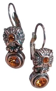 Brighton Silver tone with amber stones