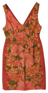 INTERMIX short dress Pink Floral Derby Preakness Polo on Tradesy