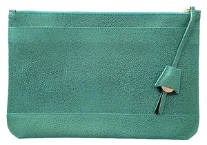 Dooney & Bourke Leather Pebbled Blue Turquoise Clutch
