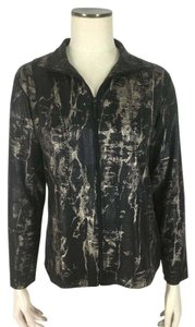 Chico's Travelers Fitted Abstract Black Jacket