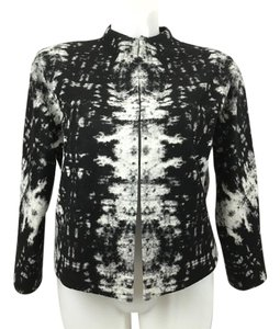 Classiques Entier Career Bolero Wool Blend Marbled European Fabric Black & White Jacket