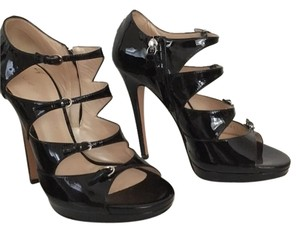 Casadei Heel Formal Black Sandals