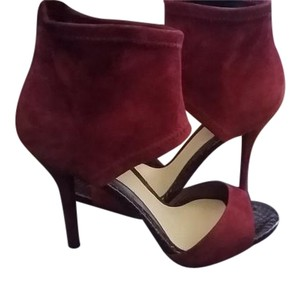 Brian Atwood Dark Red Suede Sandals