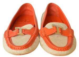 Tory Burch Canvas Loafers Woman's Orange Flats