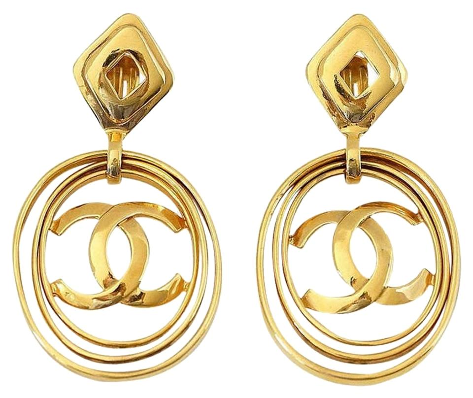 Chanel Vintage Hoop Earrings Worn 3 Ways Bold And Fabulous Rare