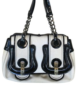 Fendi Satchel in Cream & Black