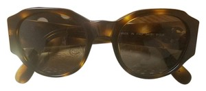 Chanel Auth CHANEL CC Logos sunglasses brown tortoise shell vintage