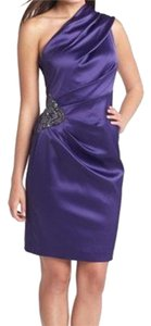 Eliza J Formal One Shoulder Satin Dress